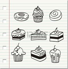 fond, cuit, beau, noir, noir et blanc, mariée, gâteau, bande dessinée, célébration, fromage, gâteau au fromage, cerise, clip-art, clipart, coloration, gâteau, mignon, délicieux, conception, dessert, beignet, griffonnage, le dessin , manger, nourriture, gourmet, graphique, main Drawin Banque d'images