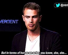 They take their acting seriously. | 9 Reasons Why Shailene Woodley And Theo James Are Awesome