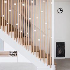 Modern Stair Railing, Stair Railing Design, Staircase Railings, Modern Stairs, Stairways, Loft Railing, Living Room Partition Design, Room Partition Designs, Rammed Earth Homes