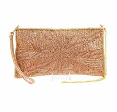 I also don't have a clutch- here is a rose gold shimmer one I'm considering! I love a clutch that can turn into a cross body, I also love a chain on it! 💖💞💫  Mary Frances Embellished Designer Bag Bursting With Joy