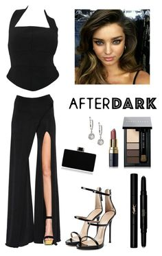 """Let the Evening Begin"" by kotnourka ❤ liked on Polyvore featuring Balmain, Chanel, Giuseppe Zanotti, Yves Saint Laurent and Bobbi Brown Cosmetics"