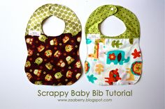 Sewing Baby Bibs.