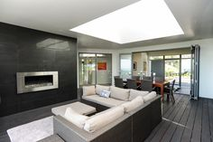 The home features a centrally located outdoor entertaining area, making it just as useful as a complete room. With a large degree of shelter, only a open skylight and one side open to the elements.