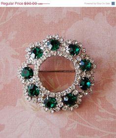 Eisenberg Ice Emerald & Rhinestone