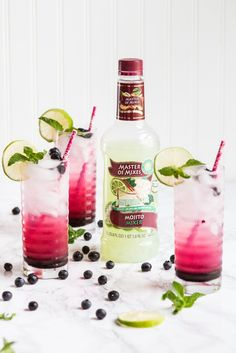 Make the most of summer blueberries with this seasonal blueberry mojito recipe made with Master of Mixes.