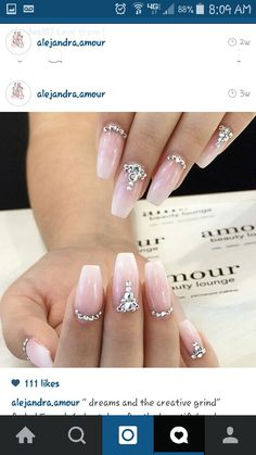 Jeweled out nails!