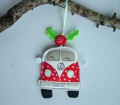 CHRISTMAS 2015 Camper Van Christmas Ornament. by SwinkyDoo on Etsy Felt Ornaments, Christmas Ornaments, Christmas 2015, Surfers, Gift Guide, Seasons, Etsy, Camper Van, Holiday Decor