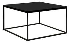 Colorcube Sofabord - Sort - 60x60 cm - Smukt og elegant sofabord med metalstel. Det kvadratiske sofabord har et let udtryk, som passer til både små og store hjem. Det sorte bord passer til alle farver og stilarter, og det kan derfor pyntes efter egen fantasi. Ønskes et mere farverigt sofabord, findes dette også i limefarvet, blåt og brunt.