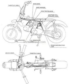 The Honda Z50R Cable and Harness Routing Diagram