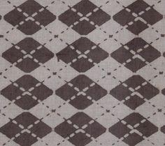 Yards Indian Block Print Brownish Grey Color by handprintedshop