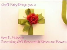 Ribbon and Flower Decorated Gift Box