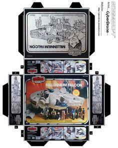 Mini Millennium Falcon Toy Box by CyberDrone.deviantart.com on @DeviantArt