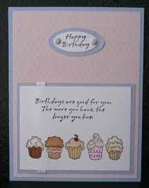MorningStar cupcake birthday card