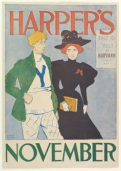 Edward Penfield (American, 1866–1925). HARPER'S / NOVEMBER, 1894. The Metropolitan Museum of Art, New York. Gift of Bessie Potter Vonnoh, 1941 (41.12.69) #MetGridironGreats