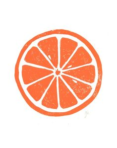 Spectrum : LINOCUT PRINT Orange letterpress poster citrus by thebigharumph Linocut Prints, Poster Prints, Art Prints, Fruit Logo, Fruits Drawing, Orange Fruit, Orange Slices, Fruit Illustration, Orange Aesthetic