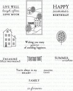 PI Summer Hills Stamp Set