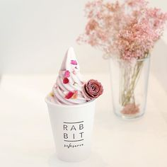Romantic purple [Lavender Rose Lover] 💜 French lavender blended with Japanese sweet potatoes softserve ice cream topped with dried rose petals and imported rose flower chocolate biscuit 💕 available now until 14/2 while stock last! #rabbitsoftserve #valentines #dessert #softserve #icecream #lavendericecream #penang #georgetown