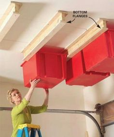 GREAT idea for some extra storage in a garage or even in a small storage building.