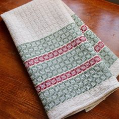 Hand Woven Towel Kitchen Dish Chef Handwoven Cotton Linen