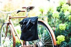 Fahrradtaschen - Schwarz Pannier Bag / Einkaufstasch Fahrradtasche  - ein Designerstück von AlbanBikeBags bei DaWanda