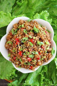 19. Slow Cooker Asian Chicken Lettuce Wraps #crockpot #recipes http://greatist.com/eat/summer-crock-pot-recipes