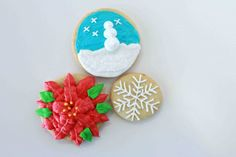 Learn how to create these beautiful Christmas cookies!