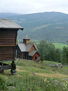 På gamle tomter, Numedal.Norge.