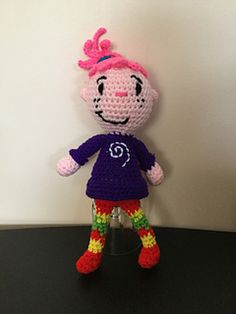 """PDF Pattern for Crochet Amigurumi """"Pinky Dinky Doo"""" Inspired Tyler Doll by Shimmeree Creations on Ravelry"""