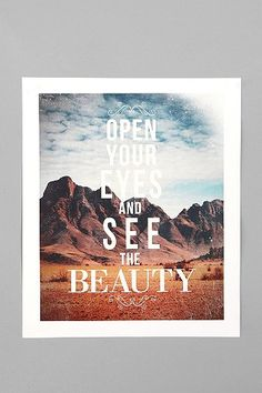 UrbanOutfitters.com > Zach Terrell For Society6 The Beauty Print $24.00