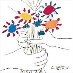 GALLERY WRAP La Petit Fleurs by Pablo Picasso 12x12 Canvas RARE SIZE Art Decor #buyartforless