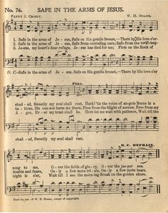 Safe in the Arms of Jesus - Hymnary.org                                                                                                                                                                                 More