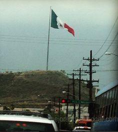 Bandera de México en el Mirador Asta Bandera del Cerro del Obispado Monterrey #ThaliaEnVivo