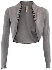 cropped military style cardi-love it!