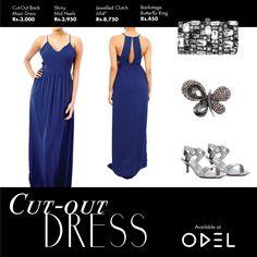 The Cut-Out DRESS ! #Odel #OdelFashion #OdelStyle #Fashion #Trendy #CutoutDress #Heels #Ring #MaxiDress #Clutch