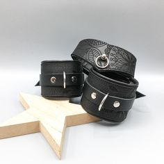 A few posts ago I showed you a teaser of new things to come - we'll be adding a new collection of collars and cuffs shortly. We'll definitely bring some to Passion BDSM and Fetish fair in Hamburg, so come and visit us to see them live - the picture doesn't do them justice :) Collar And Cuff, Teaser, Collars, Cuffs, Bring It On, Things To Come, Passion, Posts, Belt