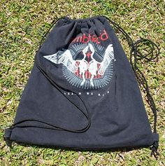 T-shirt Repurpose. An old favourite t-shirt that my son CANNOT throw away, gets a new life as a drawstring bag here.