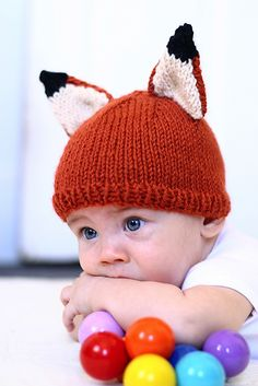 Ravelry: Knit Baby Fox Hat pattern by Abhaya Fibers