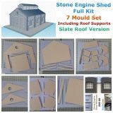 Model Railway Stone engine shed Kit - 00 Gauge
