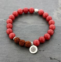 Dharmashop.com - Mountain Jade With Rudraksha and Silver OM, $36.00 (http://www.dharmashop.com/mountain-jade-with-rudraksha-and-silver-om/)