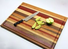 Picture of Scrap Wood Cutting Board - found this great tutorial.  Anyone interested in wood working, check it out! http://www.maccuttingboards.com