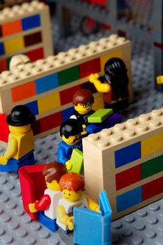 The legendary bookstore Powell's created their own Lego store to celebrate a sale on their Lego books.