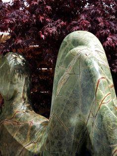 #Paul #Vanstone #green #veined #marble #sculpture at #Chelsea #2014
