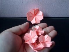 Make an Origami Cherry Blossom - YouTube