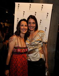 Founder Anna Getty & Co-Founder Alisa Donner at Anna's book launch party for Easy Green Organic, Spring 2010
