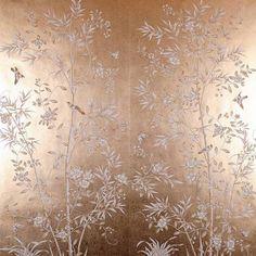 Silk Wallpaper, Normal Wallpaper, Hand Painted Wallpaper, Chinoiserie Wallpaper, Hand Painted Walls, Painting Wallpaper, Elegant Flowers, Vintage Flowers, Gold Flowers