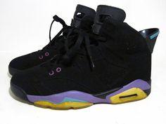 nike air jordan 6 black purple mens size 9.5 #nikejordan