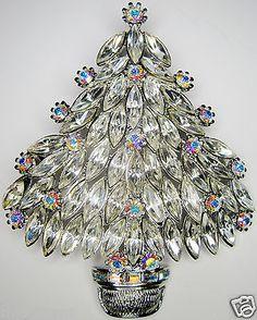 Vintage Tree RAREST 1 of 5 Eisenberg Christmas Tree Pin with New Book   eBay