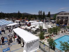 StarLight Festival Under Way!  Visitors begin to fill the festival grounds under the clear, blue skies of Big Bear Lake, California.