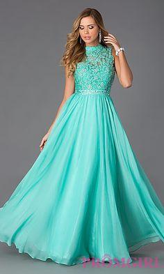 High Neck Floor Length Sleeveless Dress. Shop the look: http://www.promgirl.com/shop/dresses/viewitem-PD1308075