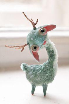 by Oso Polar - Creature Sculpture Toy Art, Cute Creatures, Fantasy Creatures, Ooak Dolls, Art Dolls, Paperclay, Creepy Cute, Designer Toys, Art Plastique